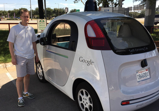 That's me with a Google Car in Austin.